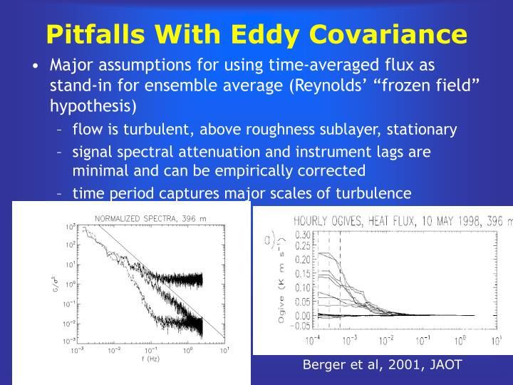Pitfalls With Eddy Covariance