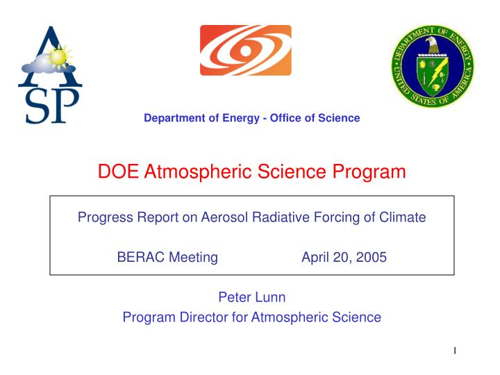 Department of Energy - Office of Science