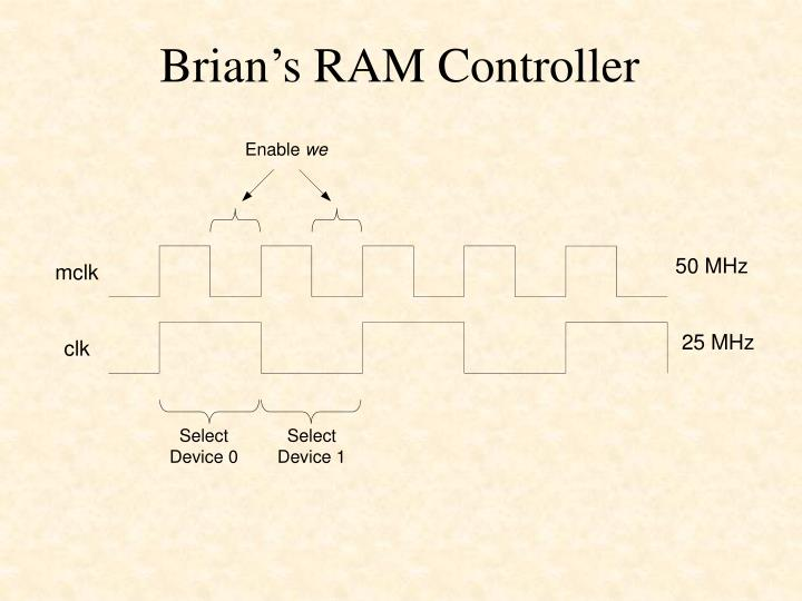 Brian's RAM Controller