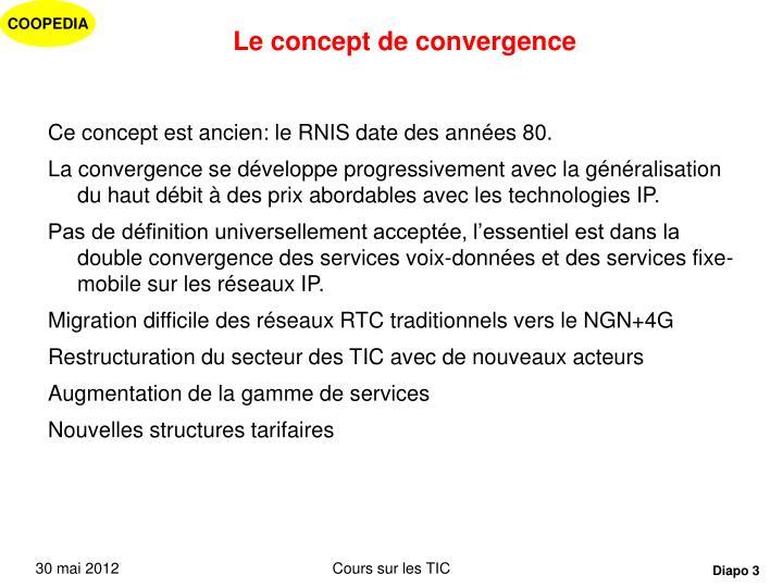 Le concept de convergence1