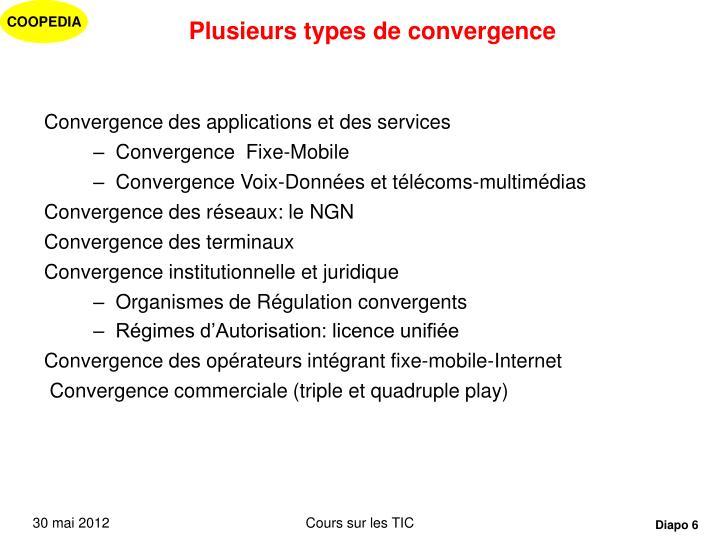 Plusieurs types de convergence