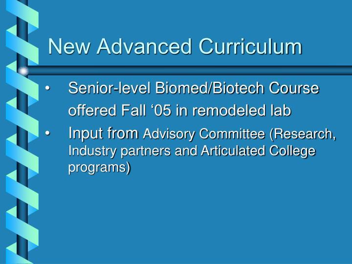 New Advanced Curriculum