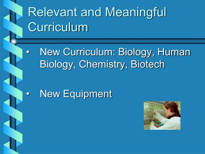 Relevant and Meaningful Curriculum