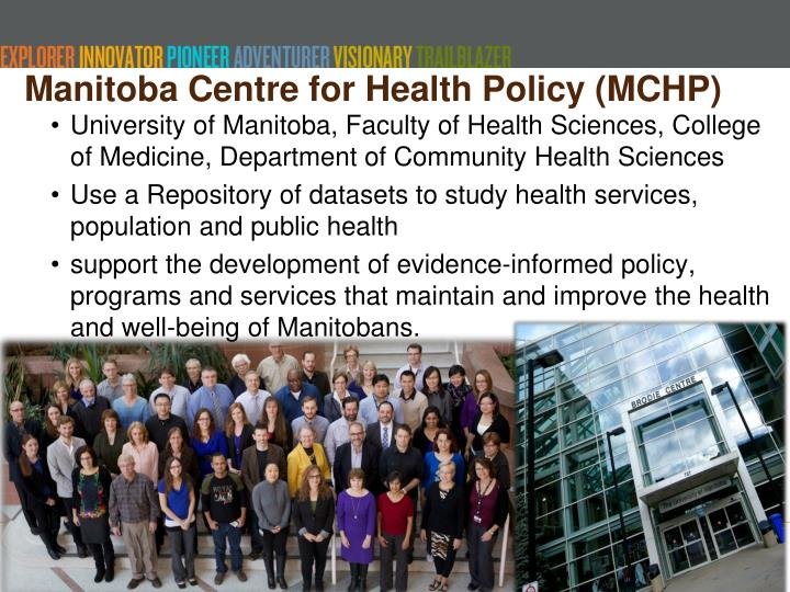 Manitoba centre for health policy mchp
