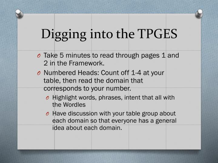 Digging into the TPGES