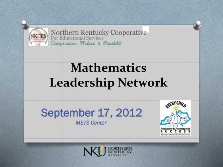 Mathematics Leadership Network