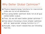 why better global optimizer