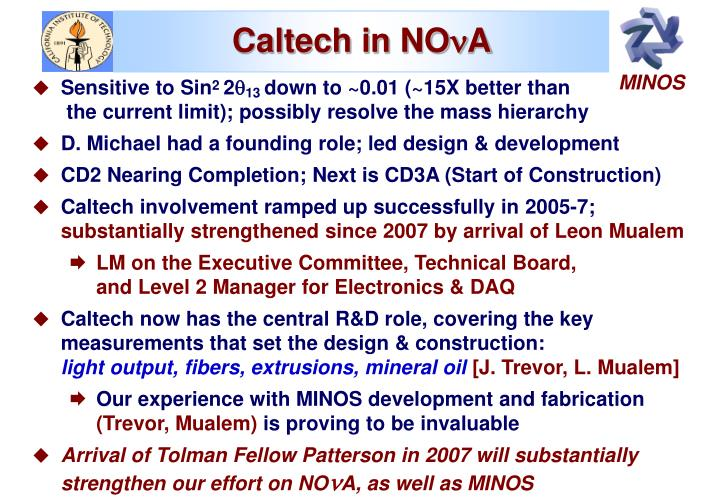 Caltech in NO