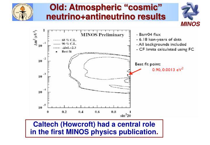 """Old: Atmospheric """"cosmic"""""""
