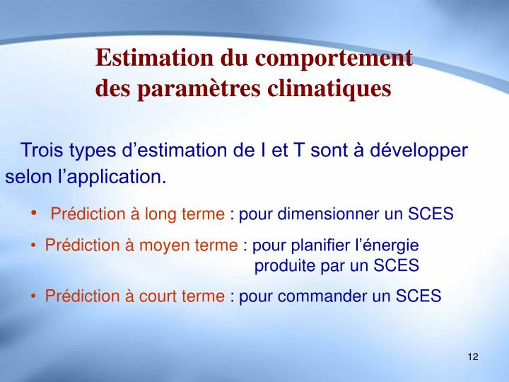 Estimation du comportement