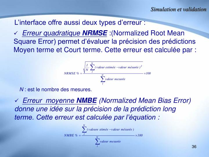 Simulation et validation