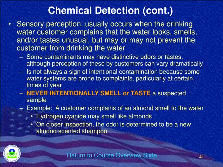 Chemical Detection (cont.)