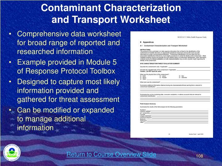 Contaminant Characterization