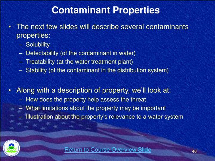 Contaminant Properties