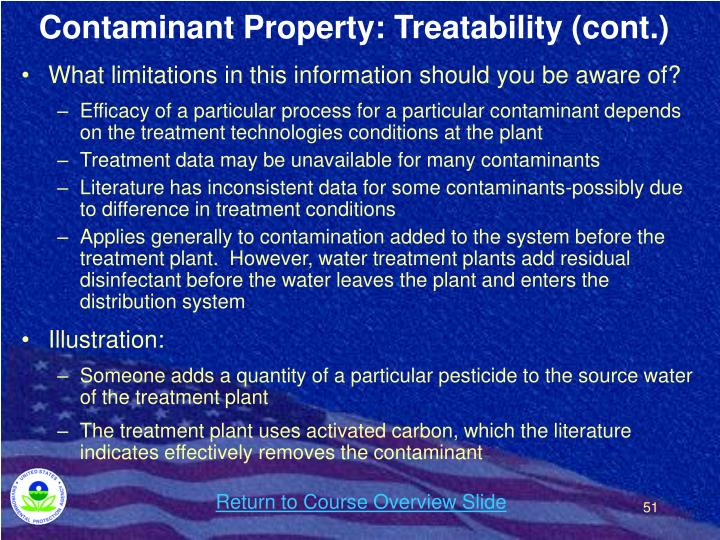 Contaminant Property: