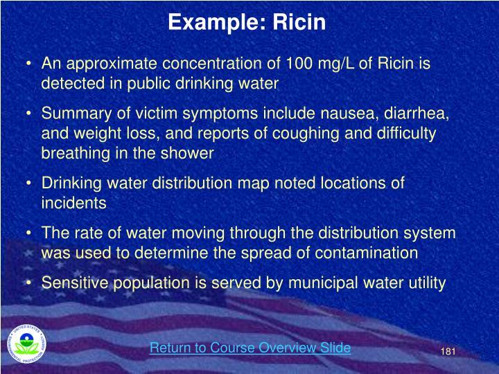 Example: Ricin