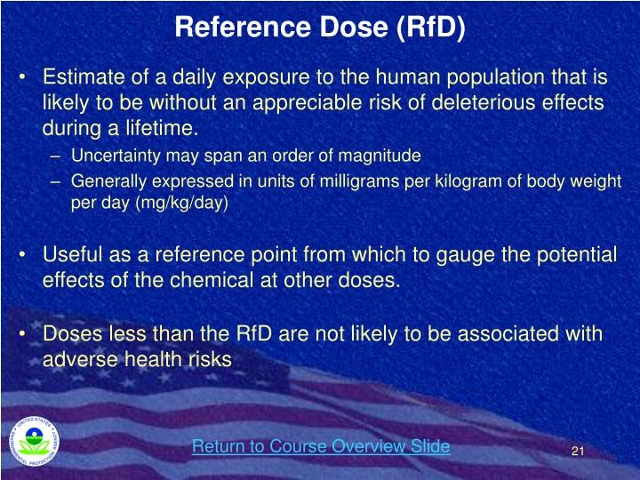 Reference Dose (RfD)