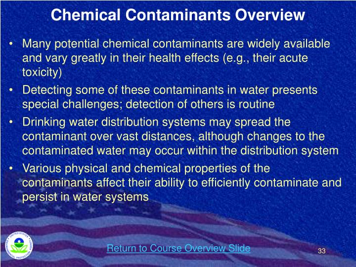 Chemical Contaminants Overview