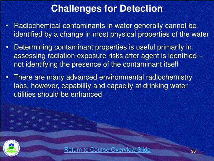 Challenges for Detection