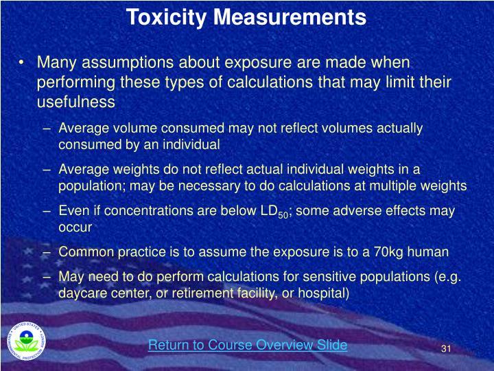 Toxicity Measurements
