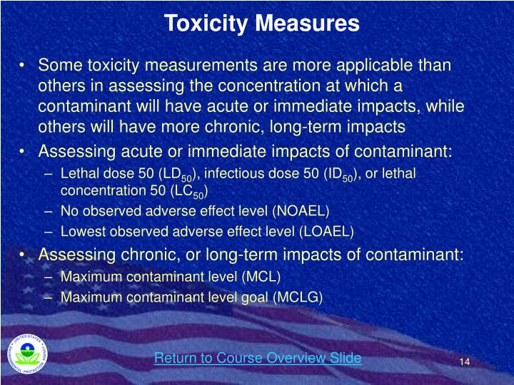 Toxicity Measures