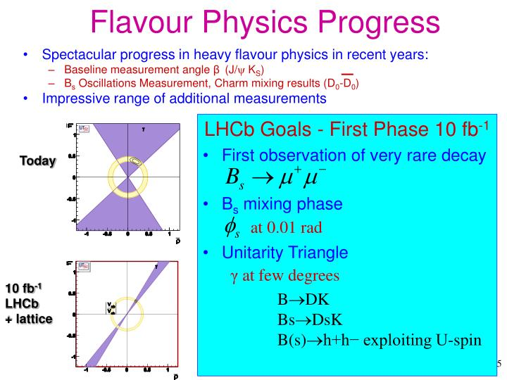 Flavour Physics Progress