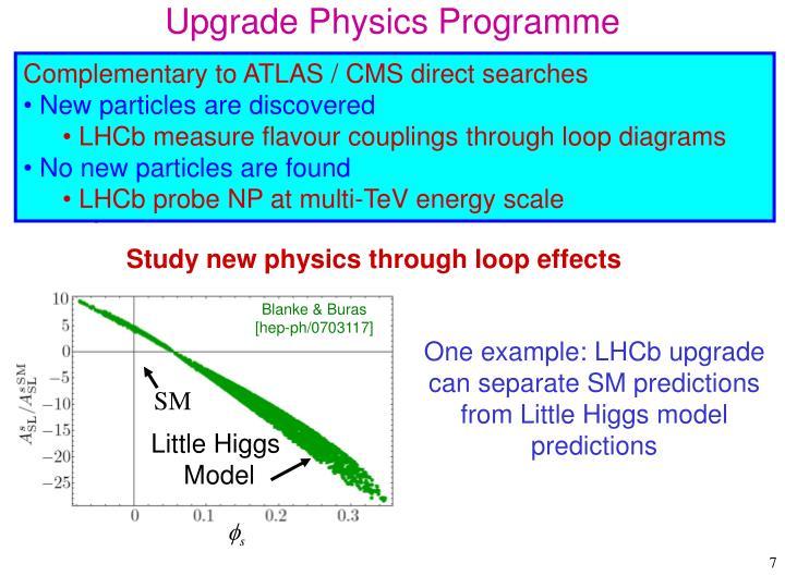 Upgrade Physics Programme