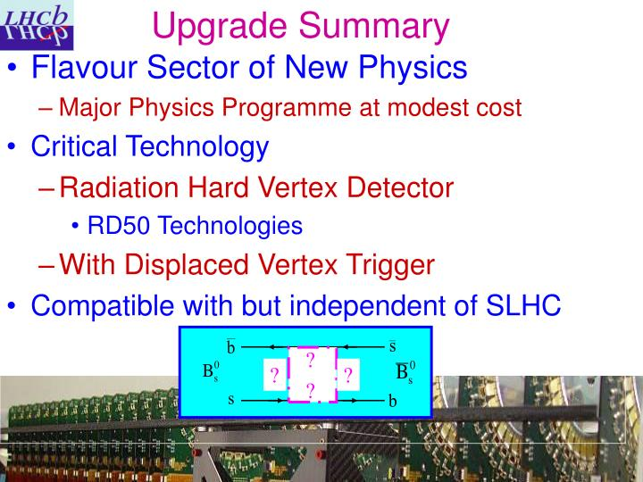 Upgrade Summary