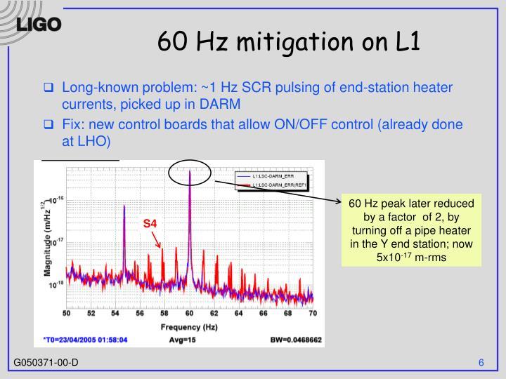 60 Hz mitigation on L1