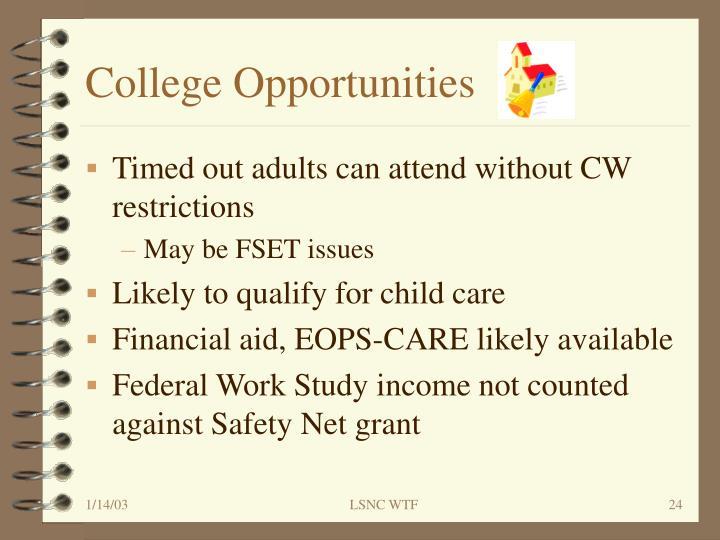 College Opportunities