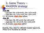 2 game theory maximin strategy2