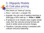 3 oligopoly models d cost plus pricing