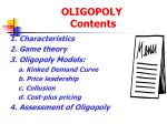oligopoly contents