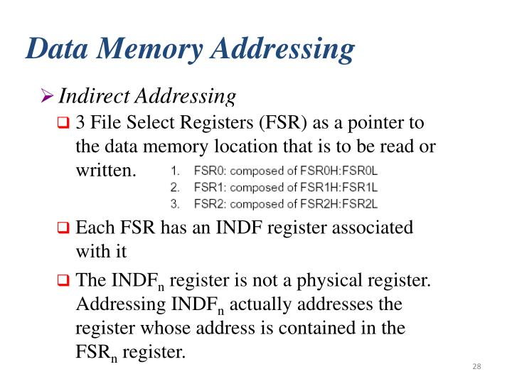 Data Memory Addressing