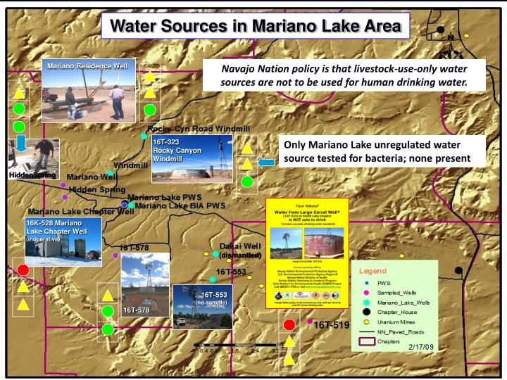 Water Sources in Mariano Lake Area