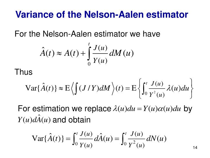 Variance of the Nelson-Aalen estimator