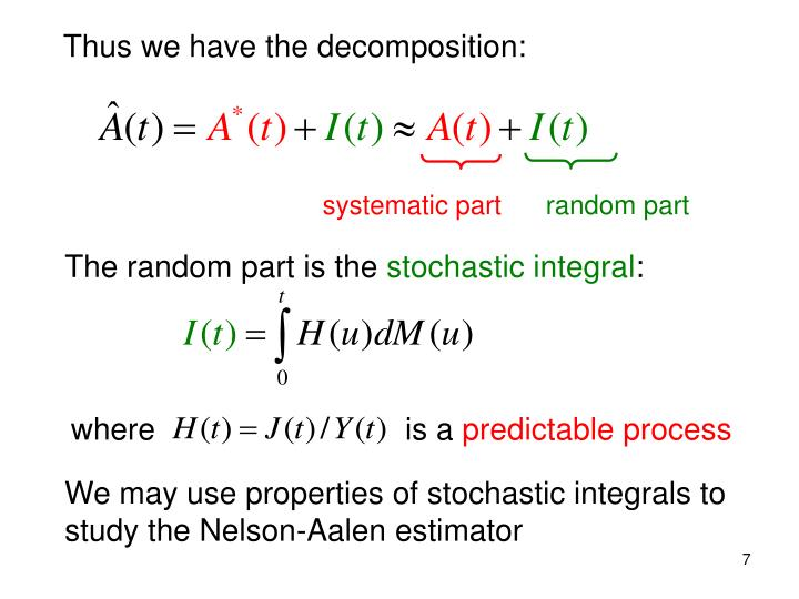 Thus we have the decomposition: