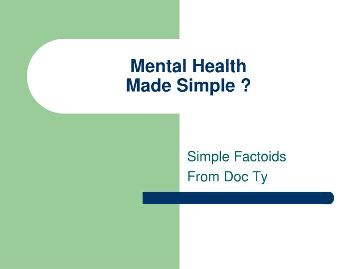 mental health made simple