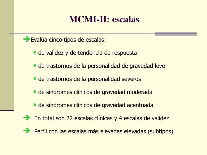 MCMI-II: escalas