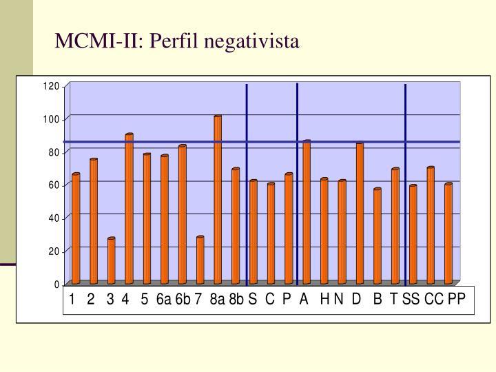 MCMI-II: Perfil negativista