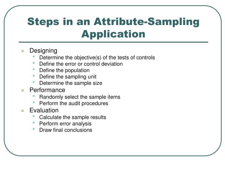 Steps in an Attribute-Sampling Application