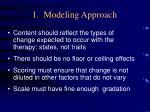 1 modeling approach