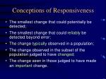conceptions of responsiveness