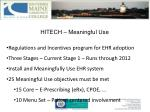 hitech meaningful use