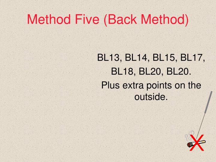 Method Five (Back Method)