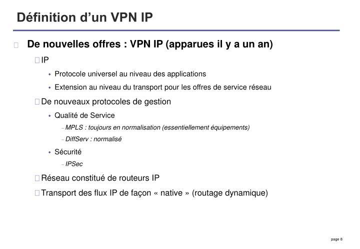 Définition d'un VPN IP