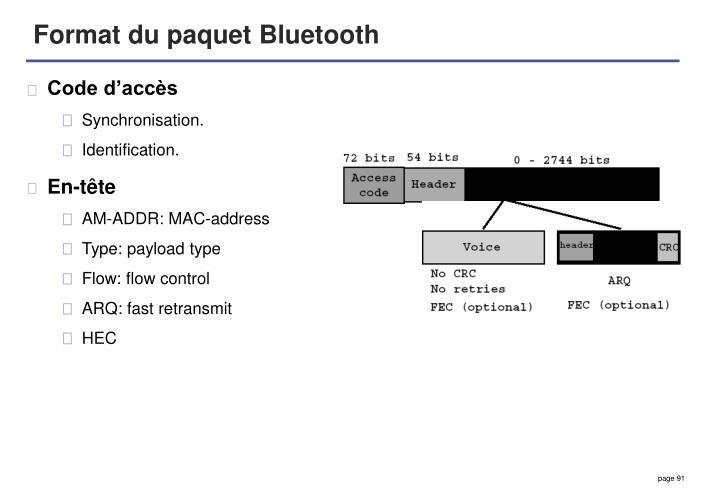 Format du paquet Bluetooth