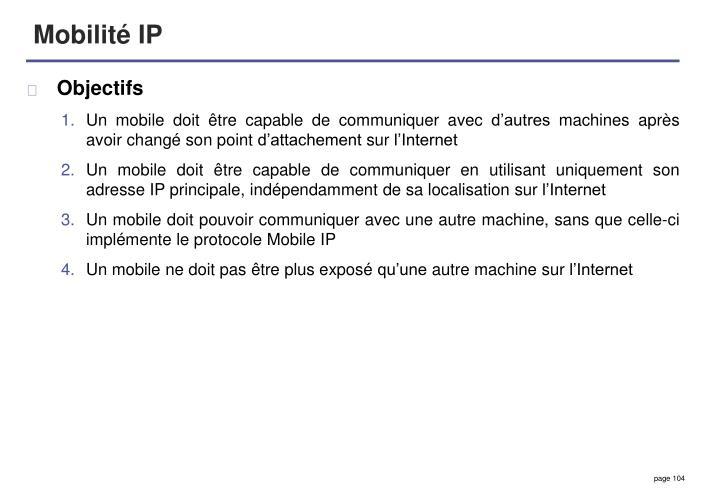 Mobilité IP