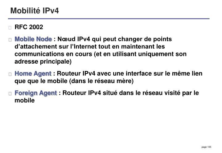 Mobilité IPv4