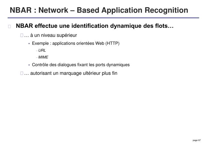 NBAR : Network – Based Application Recognition
